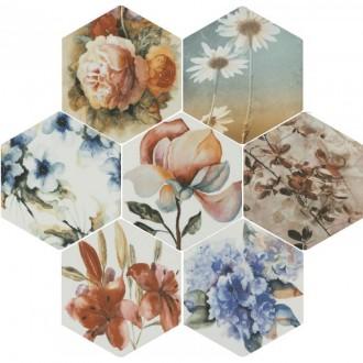 Toscana Flores Acuarelas mix 25,8x29