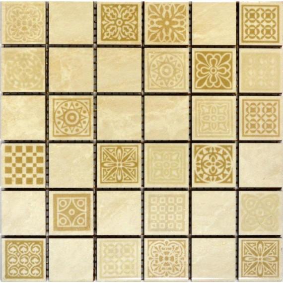 Мозаика Атриум бежевый декоративная 20х20
