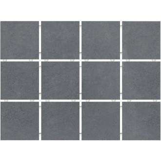 Плитка 1290 Амальфи серый темный (полотно 30х40 из 12 частей)