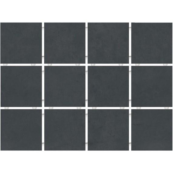 Плитка 1291 Амальфи черный (полотно 30х40 из 12 частей)