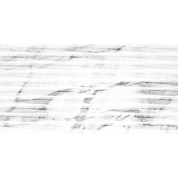 Плитка Carrara White Lined Shine структурная 30x60