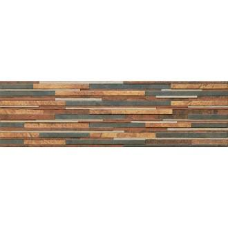Плитка Kamien Zebrina Rust структурная 600x175x9