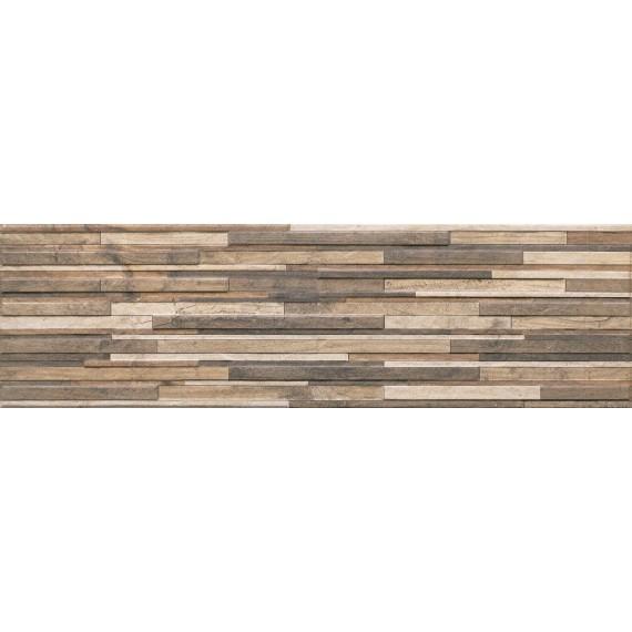 Плитка Kamien Zebrina Wood структурная 600x175x9