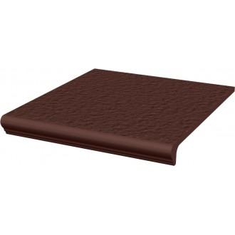 Ступени Natural Brown Duro Cтупень простая с носиком структурированная 30x33x1.1